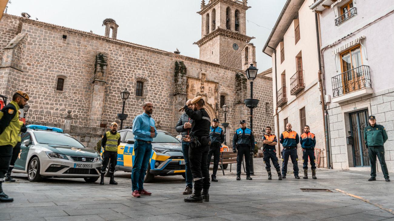 Ejército, Policía Nacional y Policía Local en Colmenar Viejo