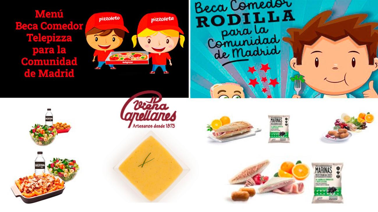 Así son los menús gratis para los menores escolares de familias vulnerables de Madrid