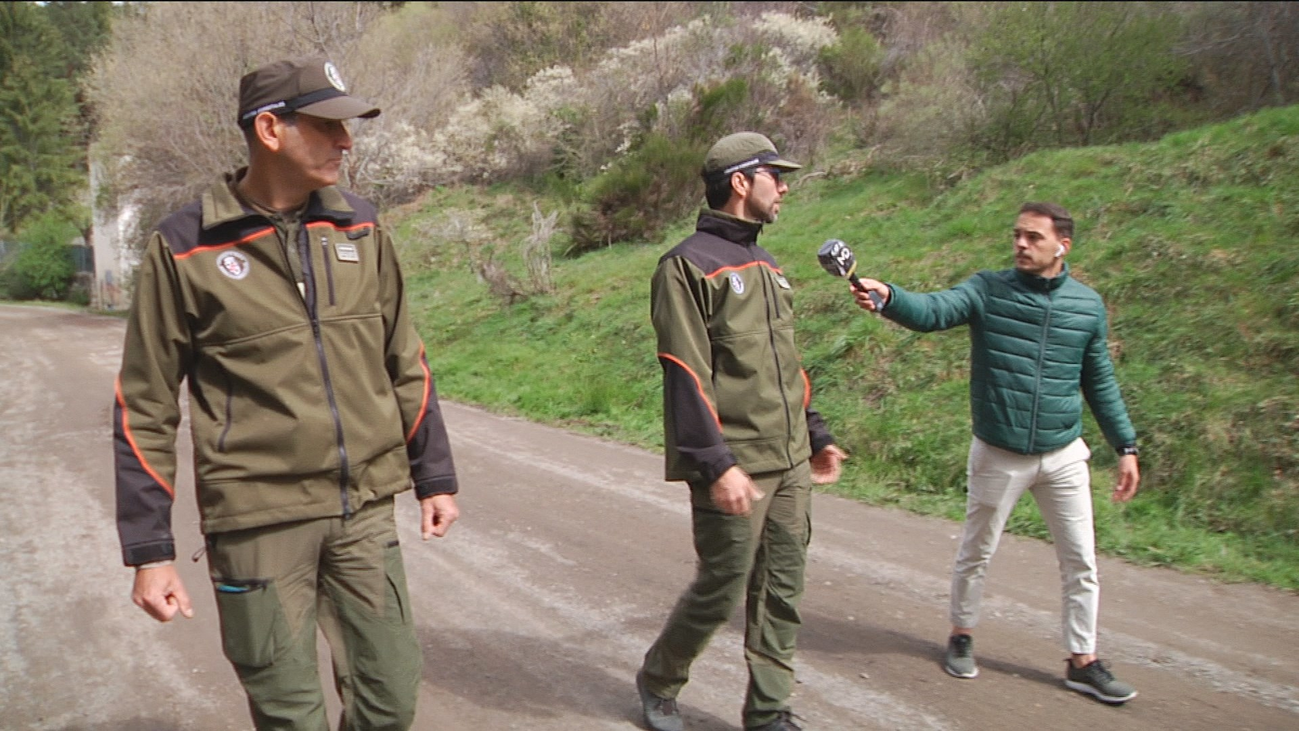 En busca de madrileños infractores en la sierra de Madrid