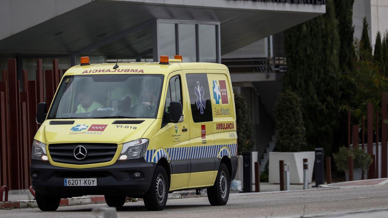 Una ambulancia en Madrid en plena crisis del coronavirus