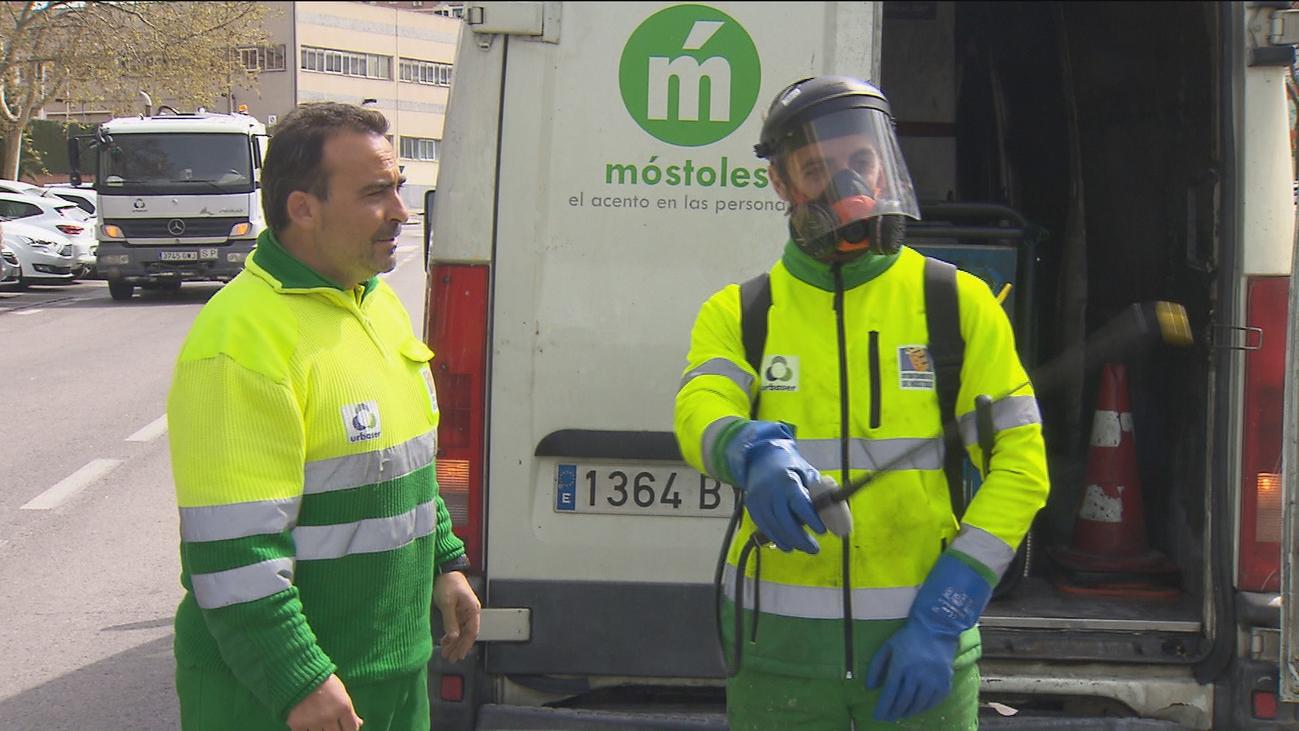 Móstoles refuerza los servicios públicos de desinfección