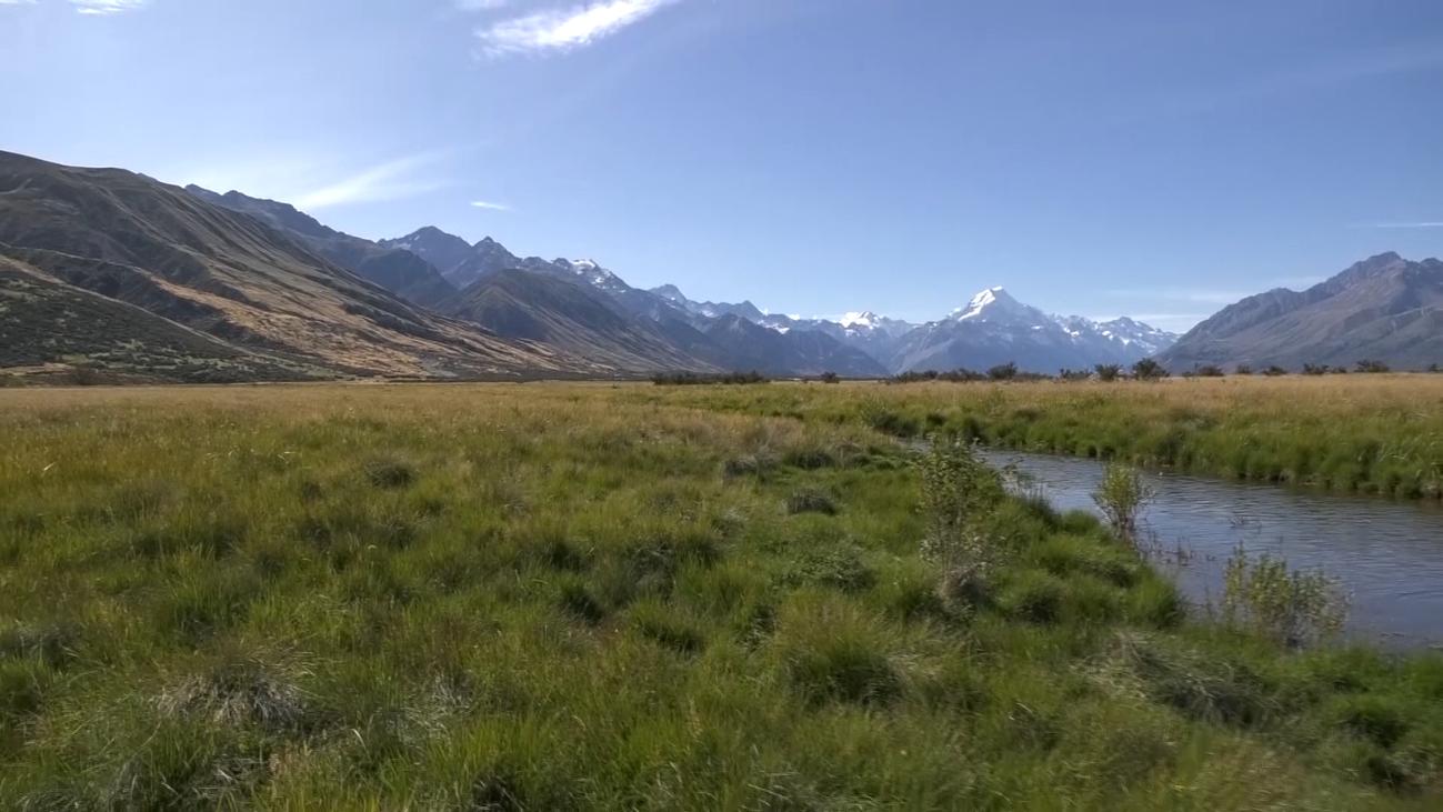 Los lagos turquesa de Nueva Zelanda, las huellas de sus glaciares