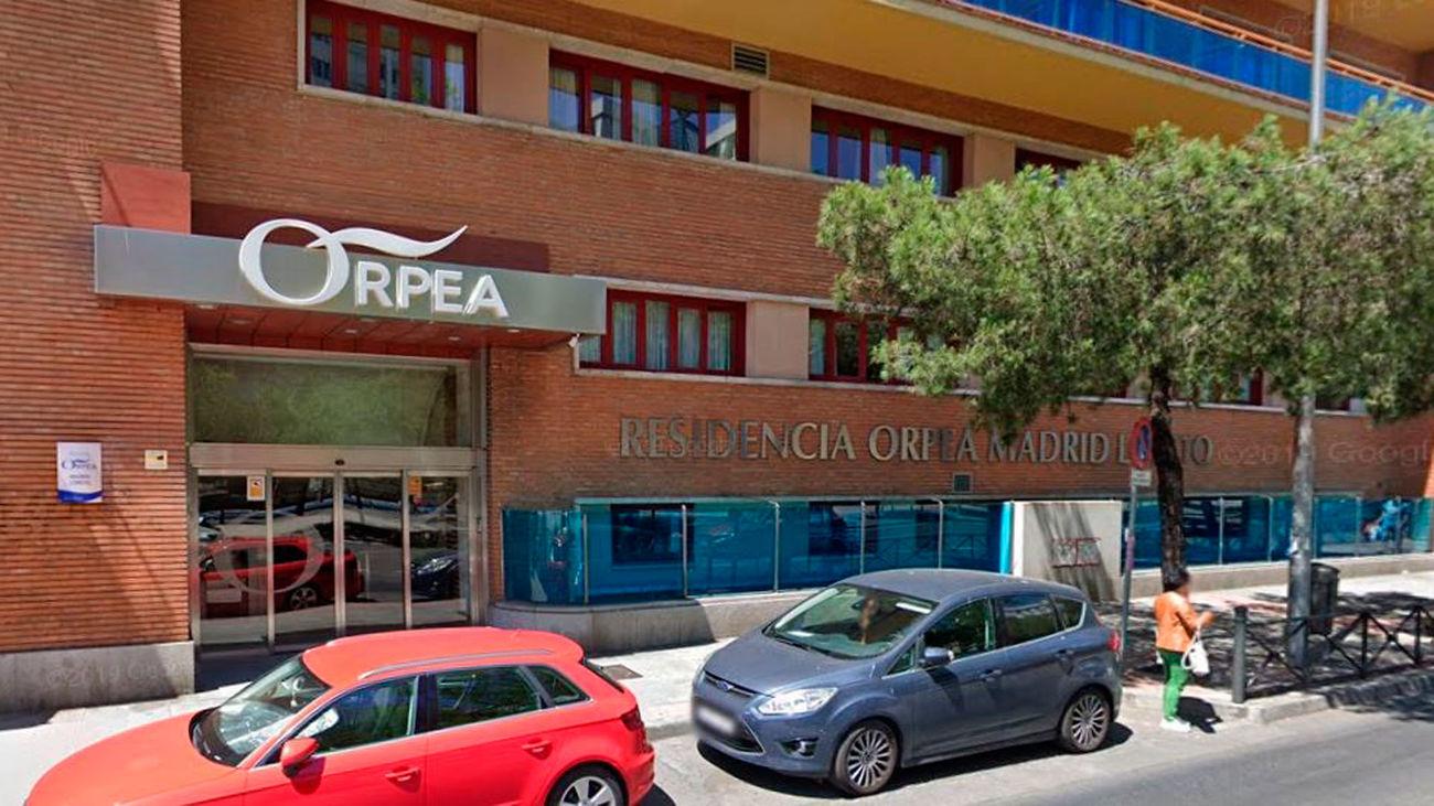 Fachada principal de la residencia Orpea Loreto, situada en la calle Reina Victoria de Madrid