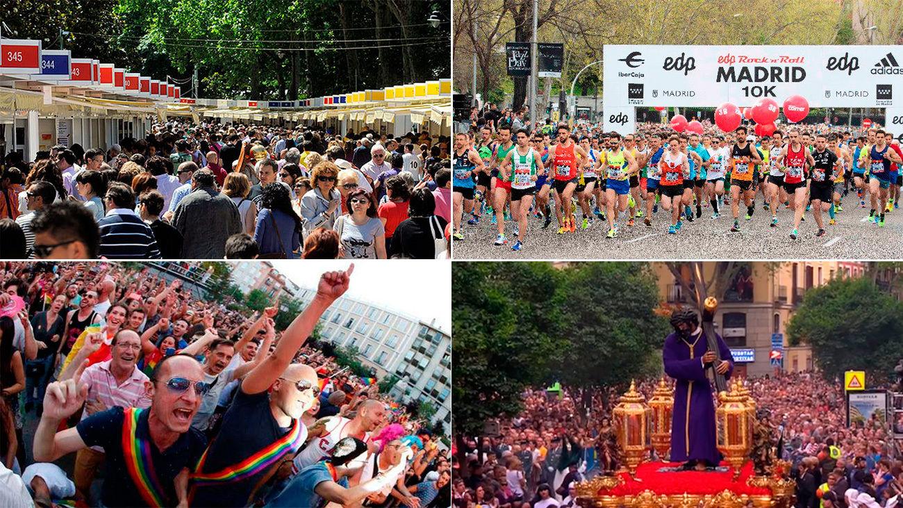 Feria del libro, Maratón de Madrid, Fiestas del orgullo, Semana Santa... eventos cancelados por el coronavirus