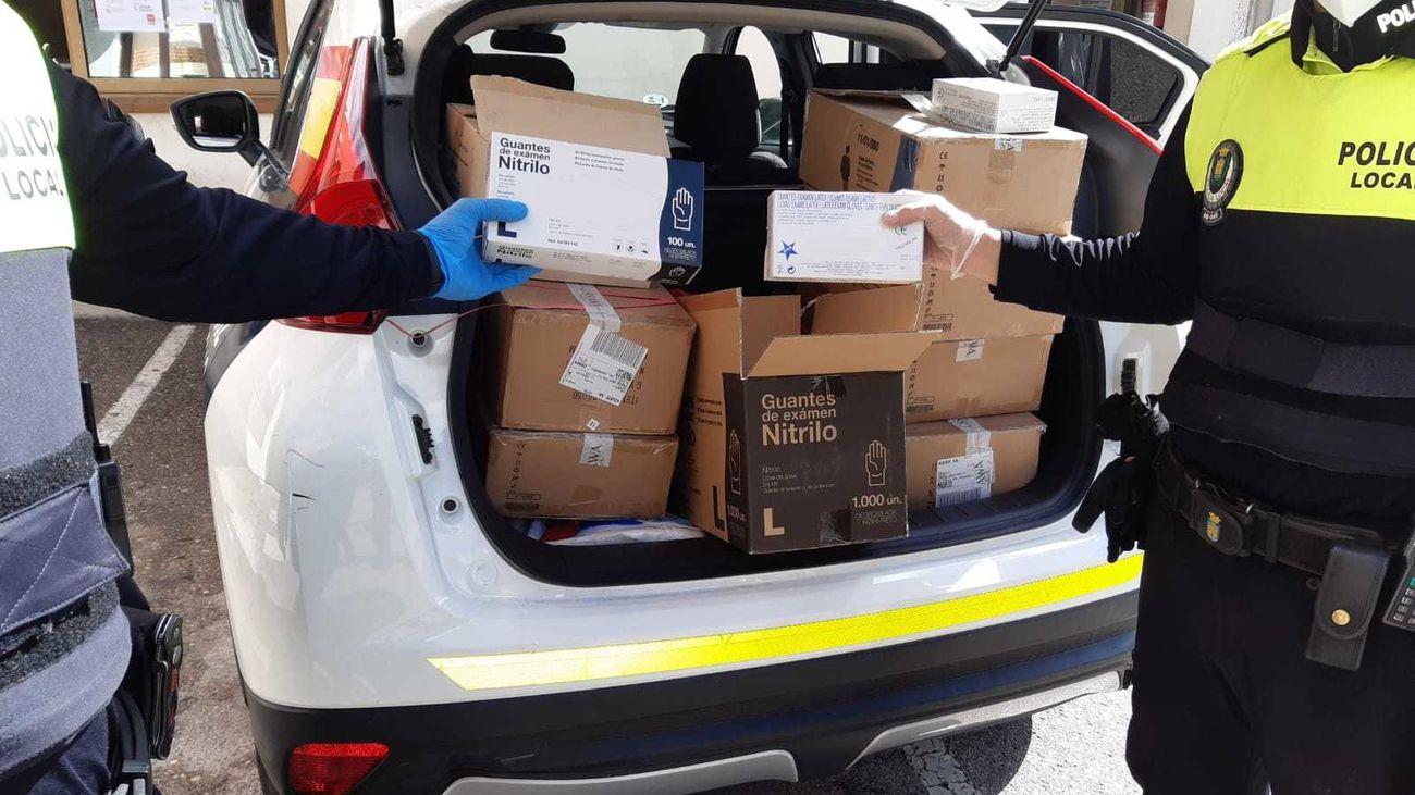 La Policía de Rivas recibe múltiples donaciones de ciudadanos anónimos