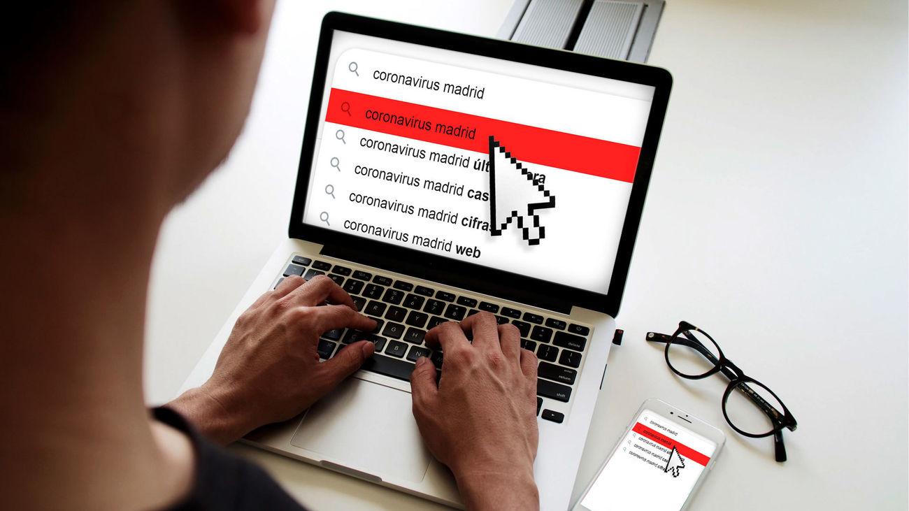 Las webs y recursos online de referencia para el coronavirus en Madrid