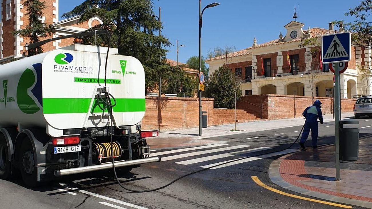 Rivas Vaciamadrid limpia las calles
