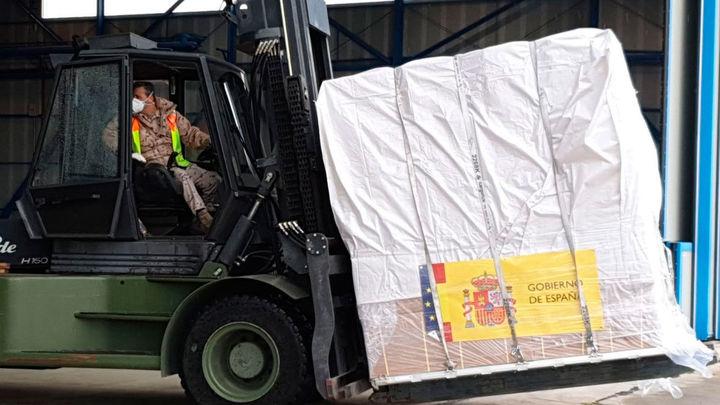 Llega el segundo vuelo con 30 toneladas de productos sanitarios desde China