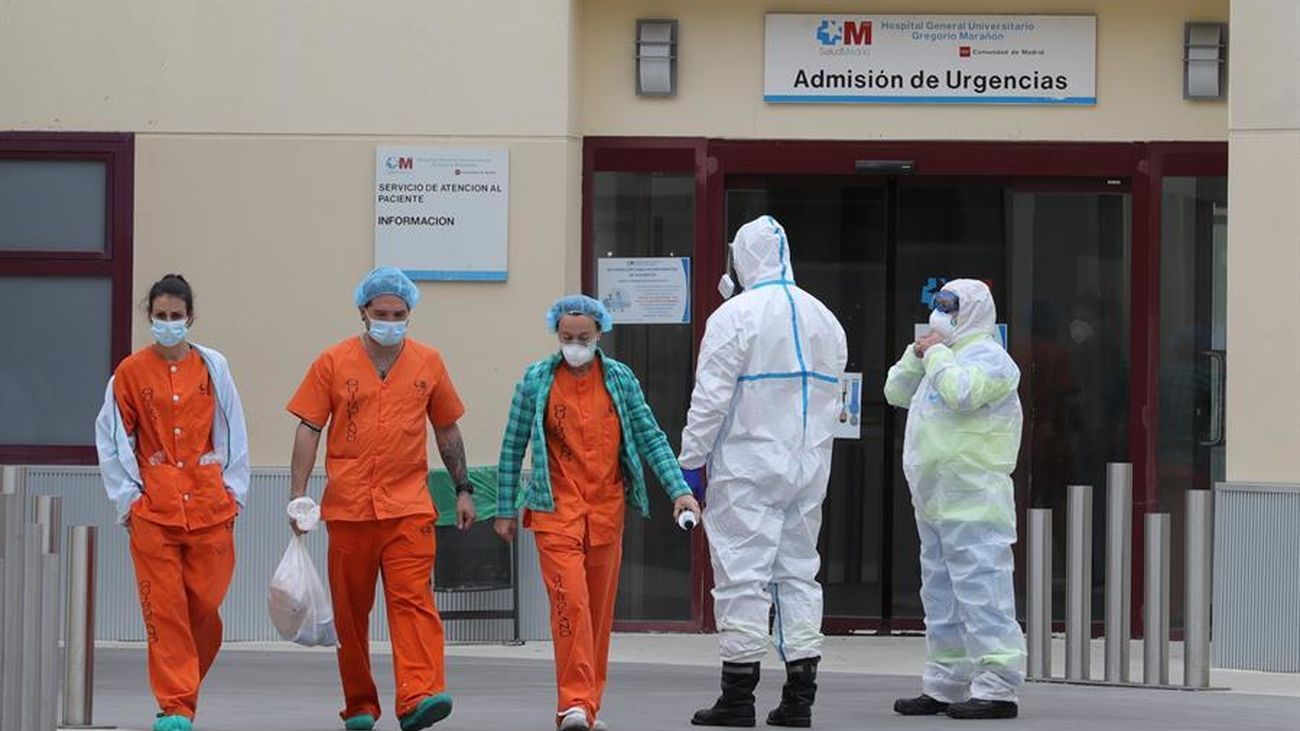 Personal sanitario en Madrid