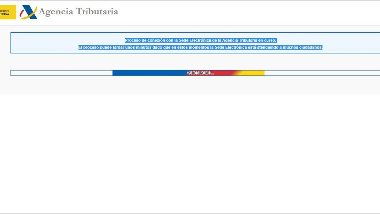 Colapsada la web de la Agencia Tributaria