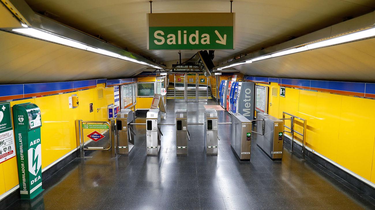 Acceso al Metro de Madrid