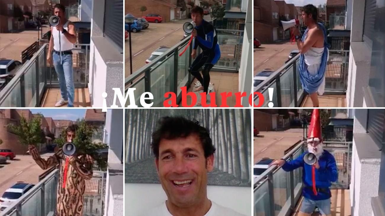 """Jokin Ventura arranca a sus vecinos una sonrisa con su """"Me aburro"""""""