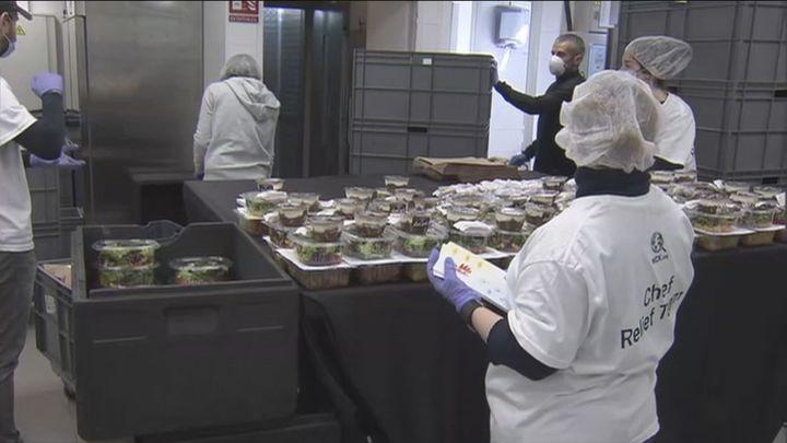 La Escuela Santa Eugenia y el chef José Andrés repartirán 10.000 menús al día