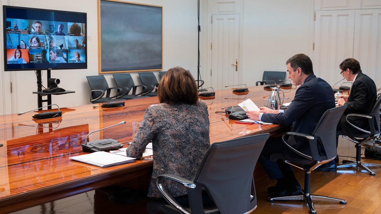 Reunión de seguimiento de Pedro Sánchez con el Comité de Emergencias