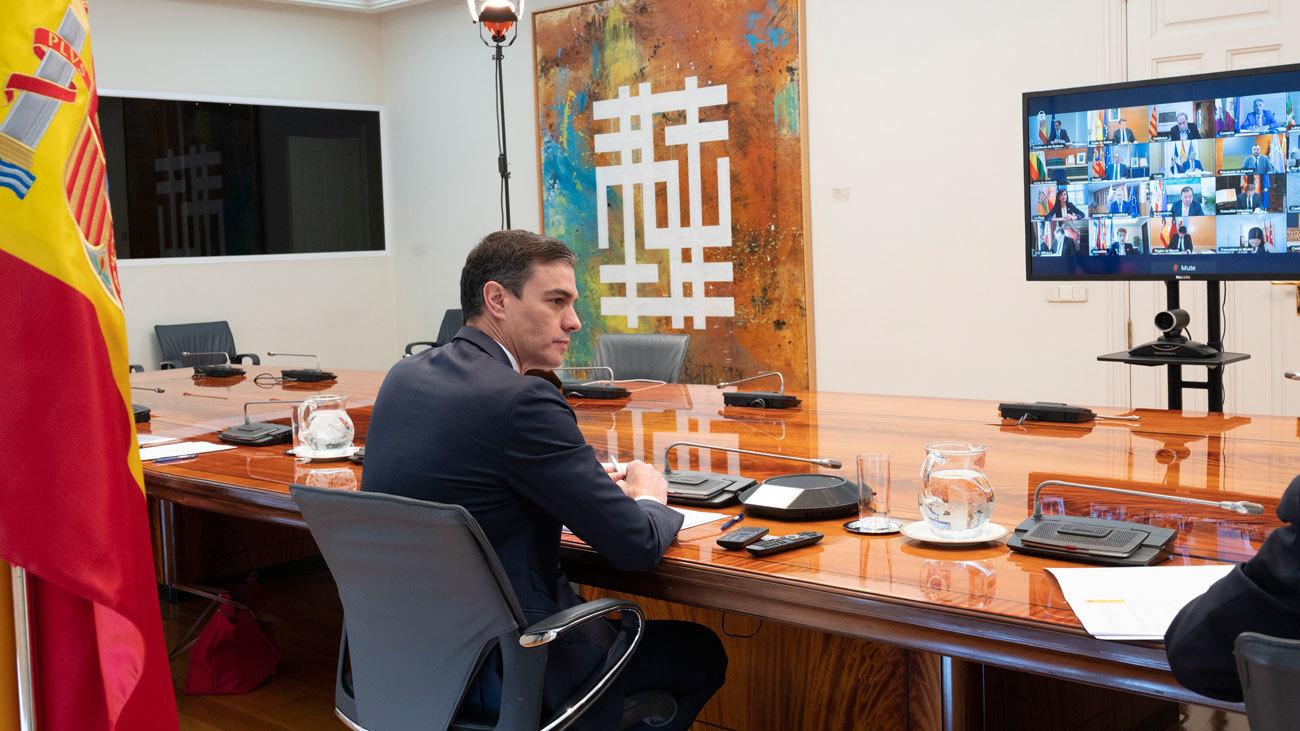Sánchez analiza con presidentes de CCAA la evolución del virus y medidas