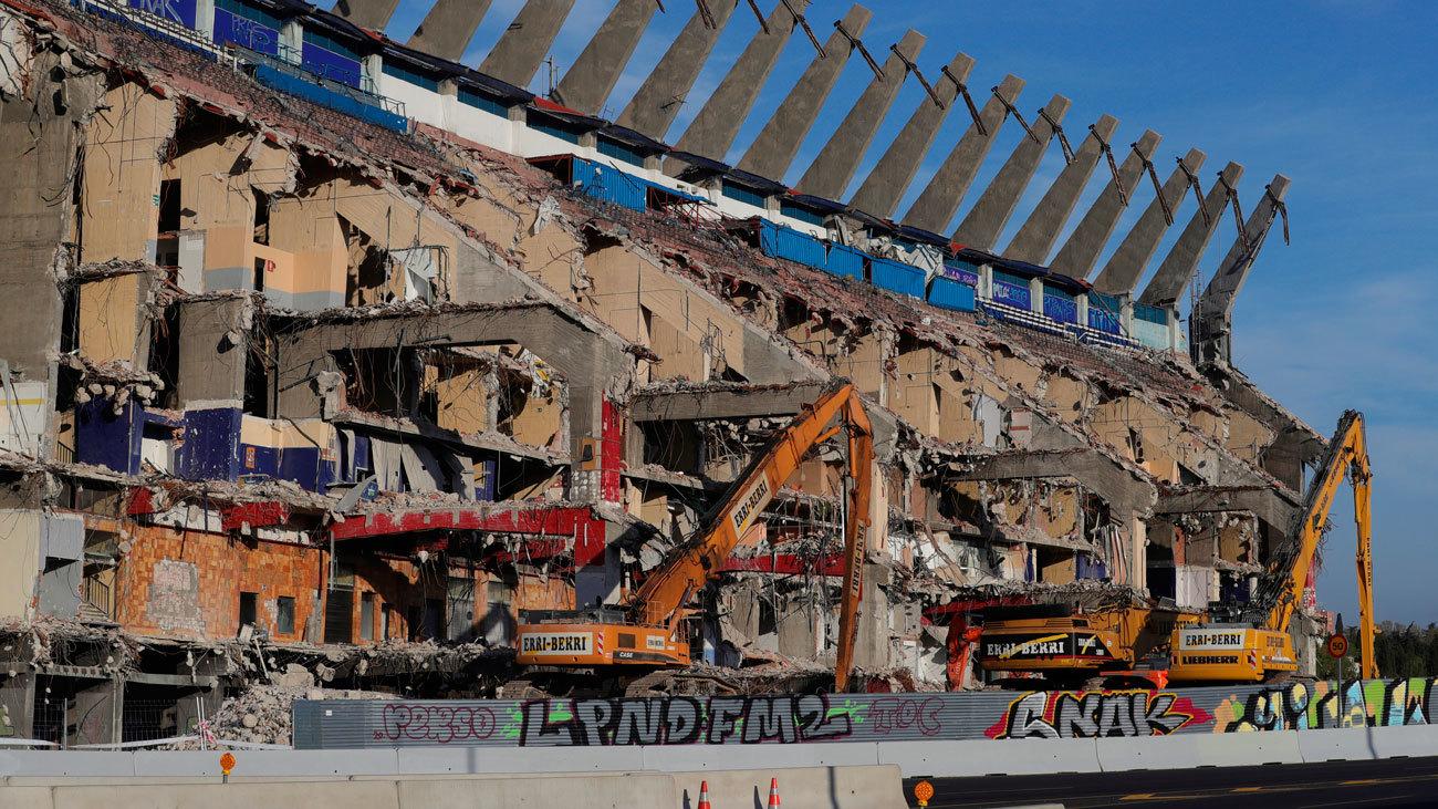 Estado de demolición del Vicente Calderón
