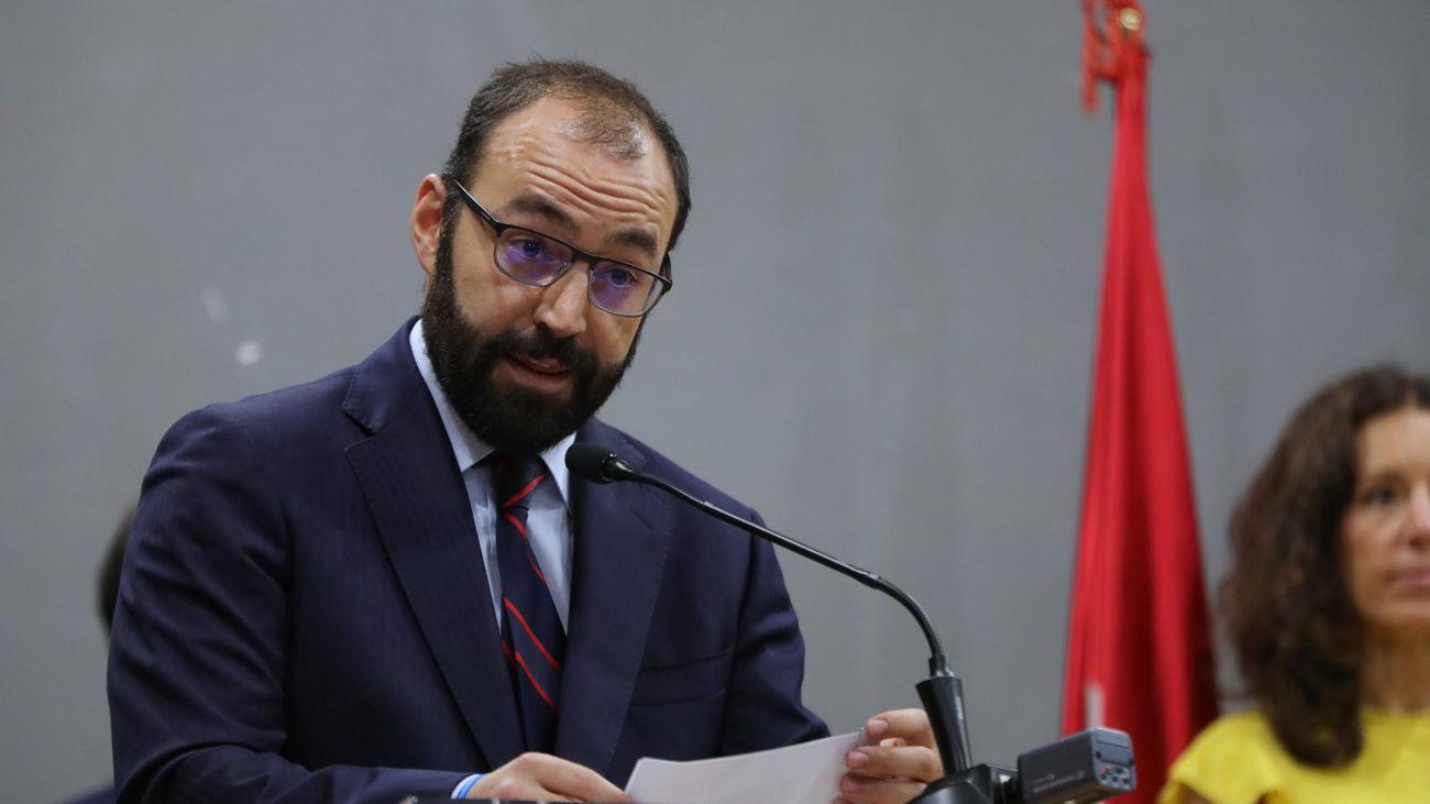 El consejero de Economía, Competitividad y Empleo de la Comunidad de Madrid, Manuel Giménez.