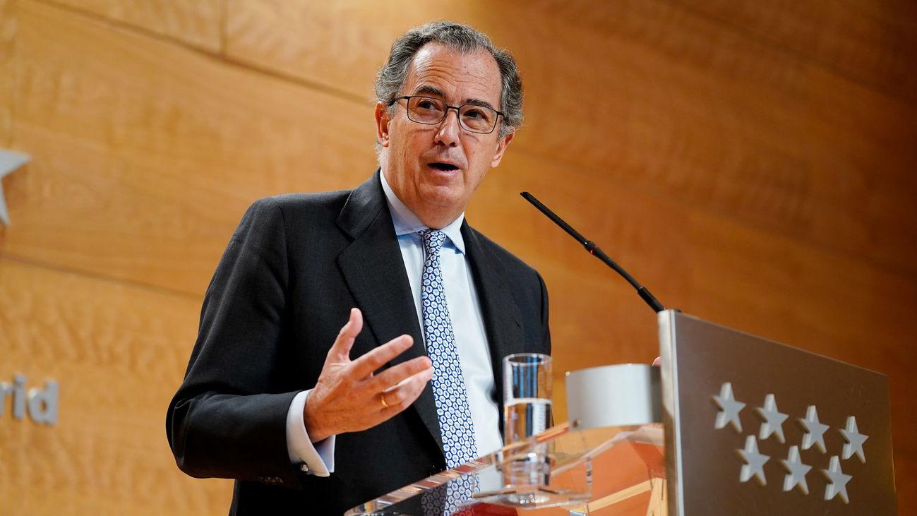 El consejero de Educación y Juventud de la Comunidad de Madrid, Enrique Ossorio