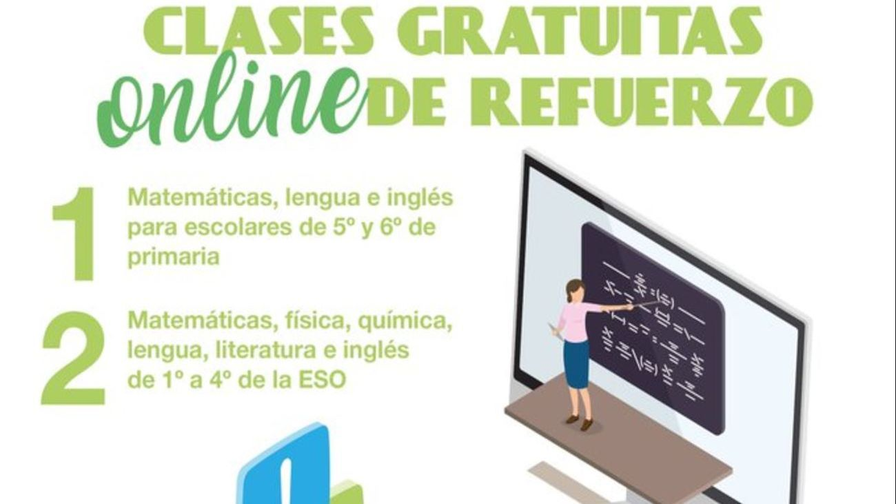 Boadilla ofrece un profesor online de refuerzo a alumnos de 5º de Primaria a 4º de ESO