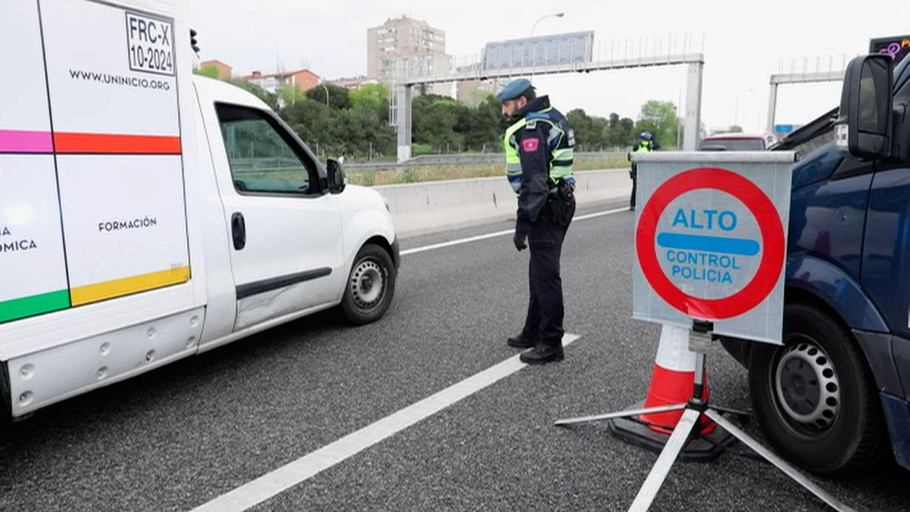 Control de la Policía Municipal de Madrid el Jueves Santo