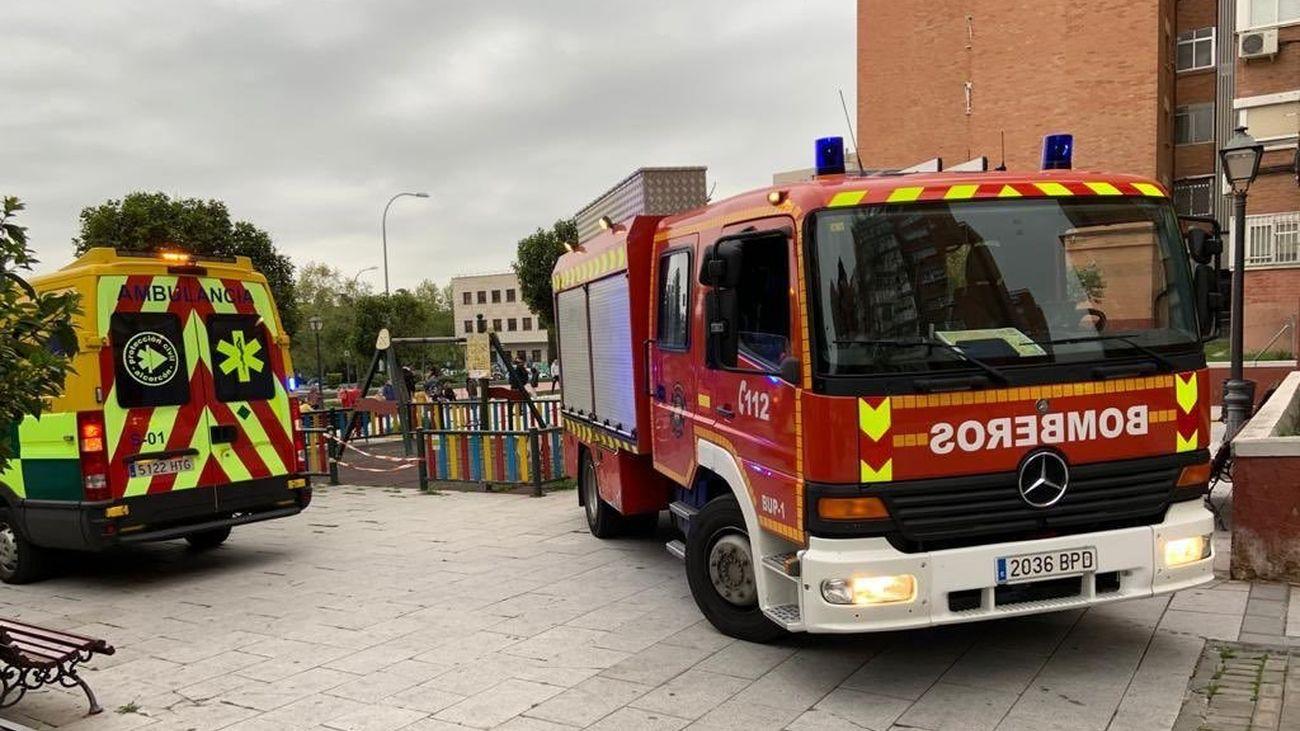 Tres heridos leves en un incendio en Alcorcón