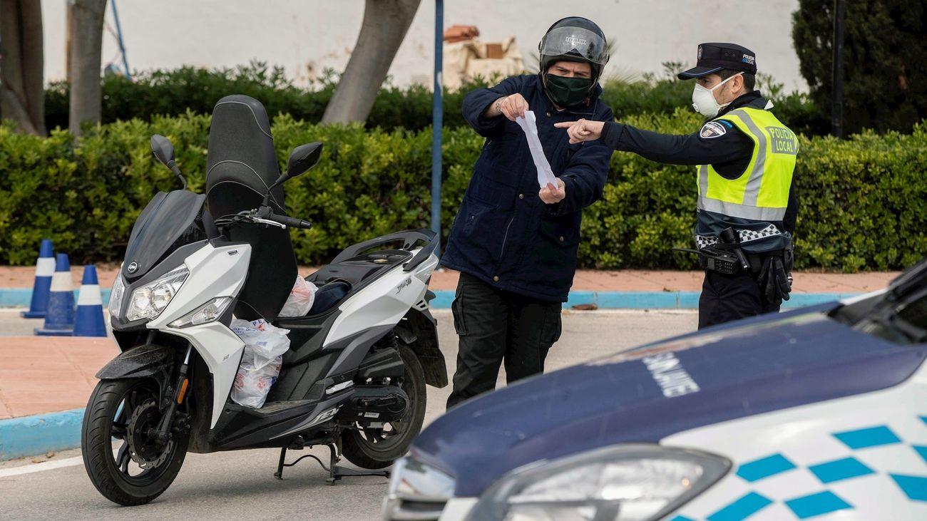 Un control de tráfico en la localidad murciana de San Javier