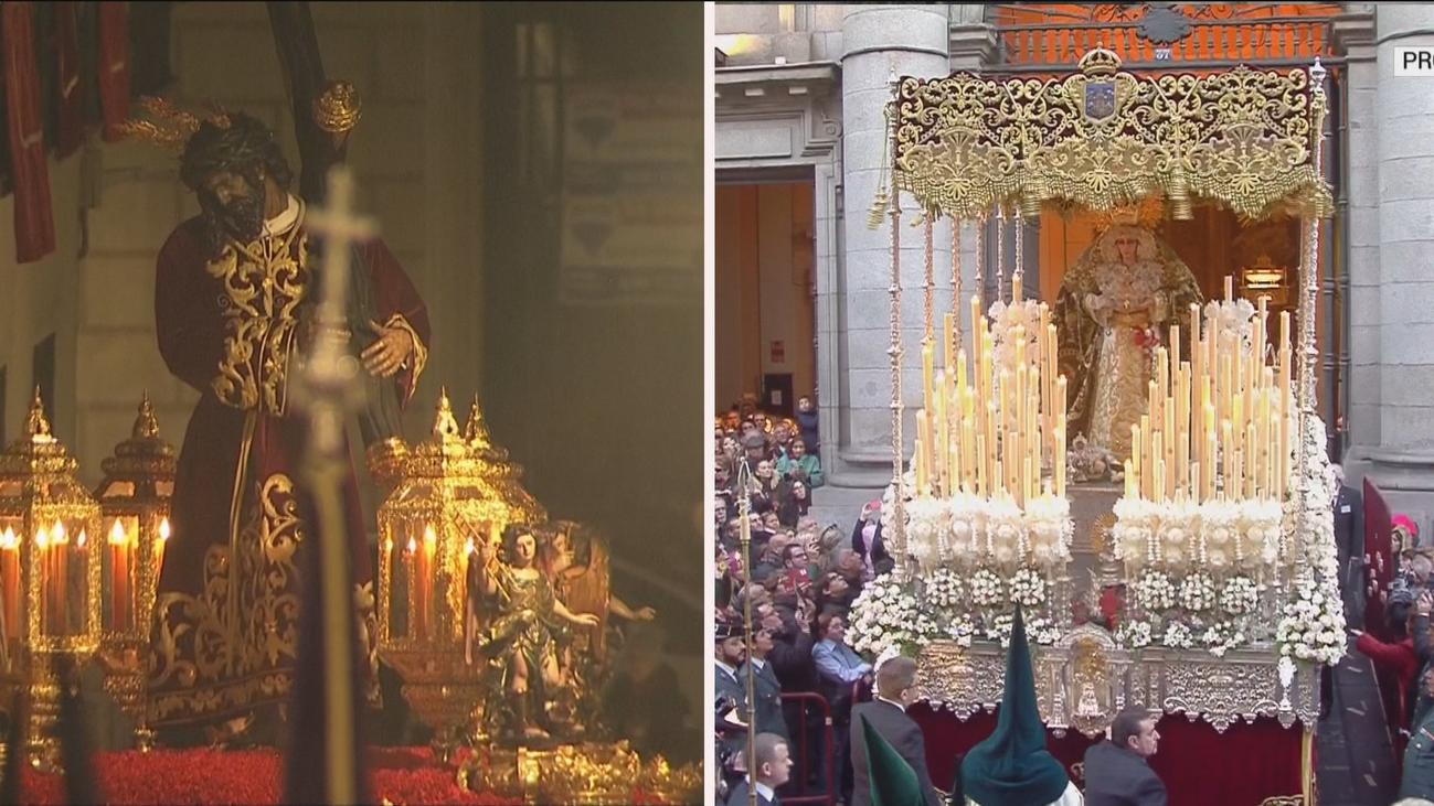 Viernes Santo atípico en Madrid, la procesión se vive por dentro