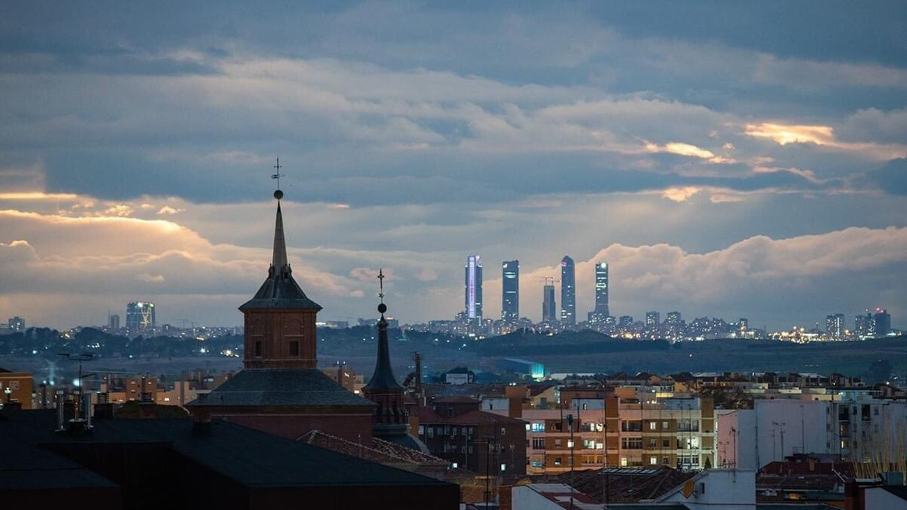 Imagen de Madrid desde Alcalá de Henares (Foto; Domingo Pestana)