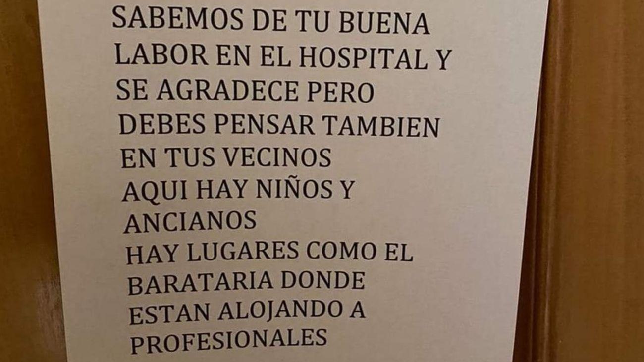 Nota que ha recibido un médico de Ciudad Real