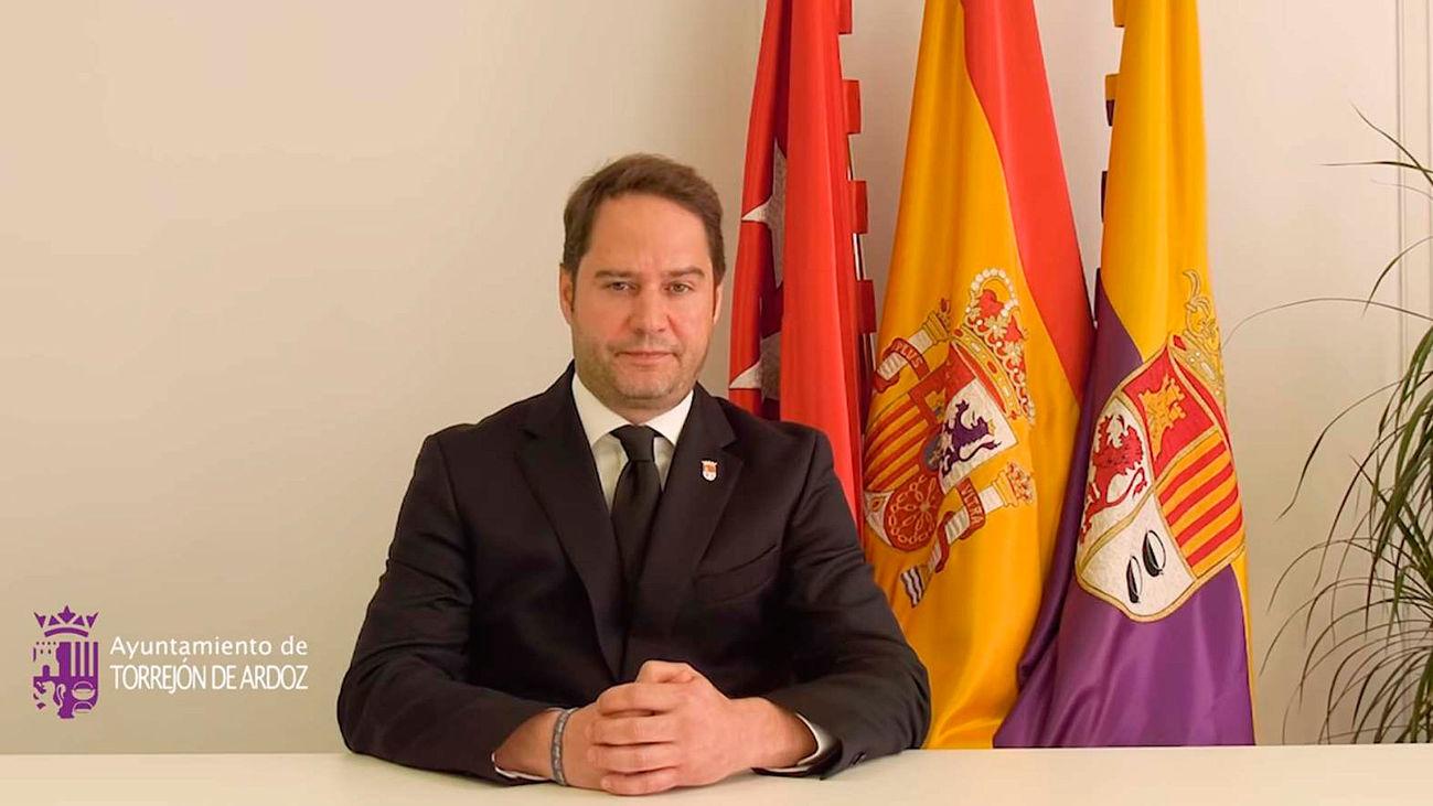 Ignacio Vázquez, alcalde de Torrejón de Ardoz, en un video institucional