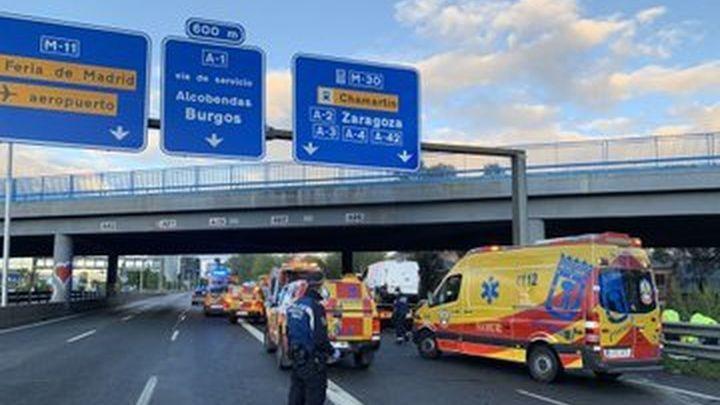 Muere un operario de Madrid Calle 30 y otro hombre  resulta herido grave en un doble atropello tras un accidente