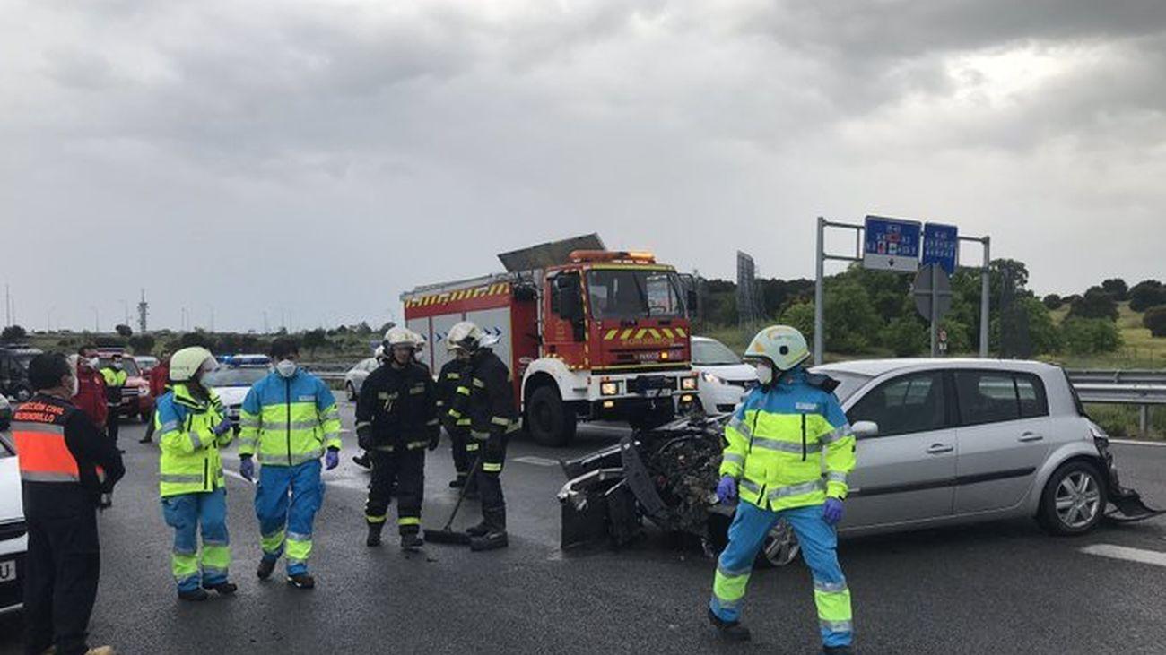 Accidente en la M-503 en Pozuelo