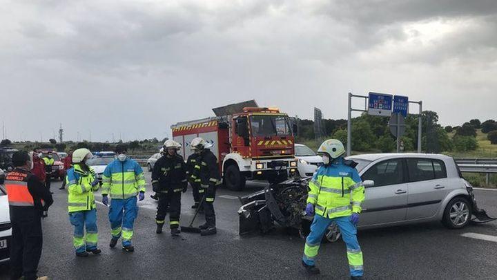 Heridos  un guardia civil y un operario arrollados por un vehículo en la M-503 en Pozuelo