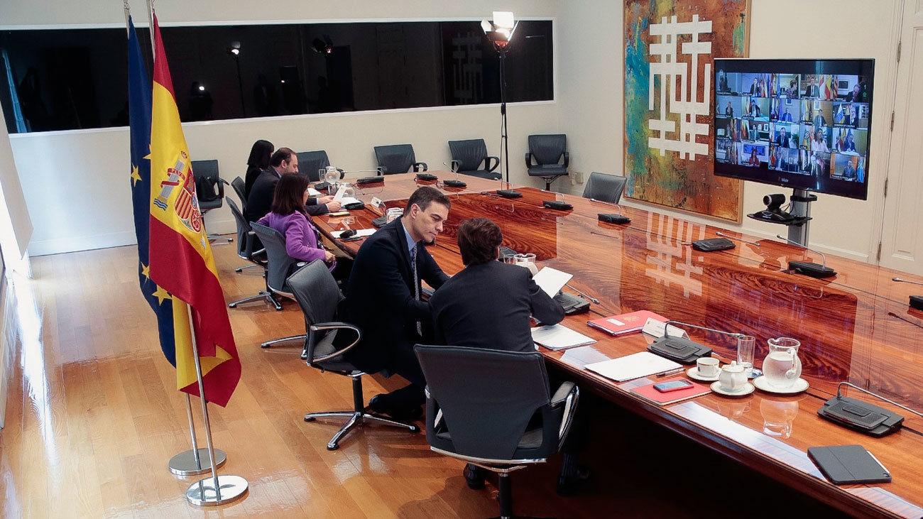 Videoconferencia de Sánchez con las CCAA