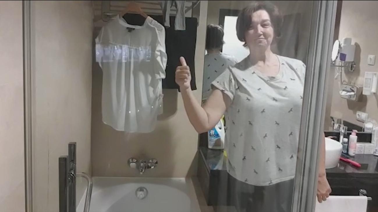 El día a día de Carmen, una de las sanitarias que vive en un hotel