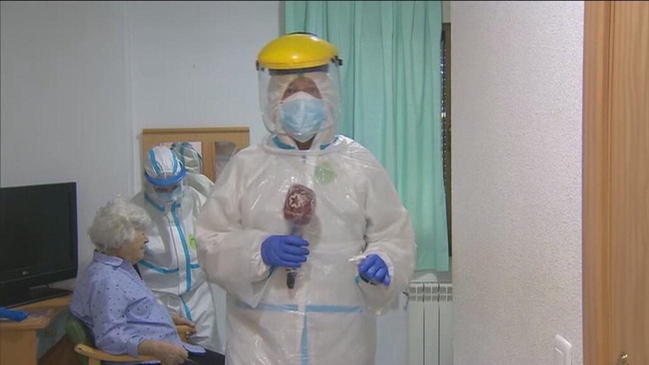 Telemadrid entra por primera vez en una residencia de ancianos en plena crisis del covid-19