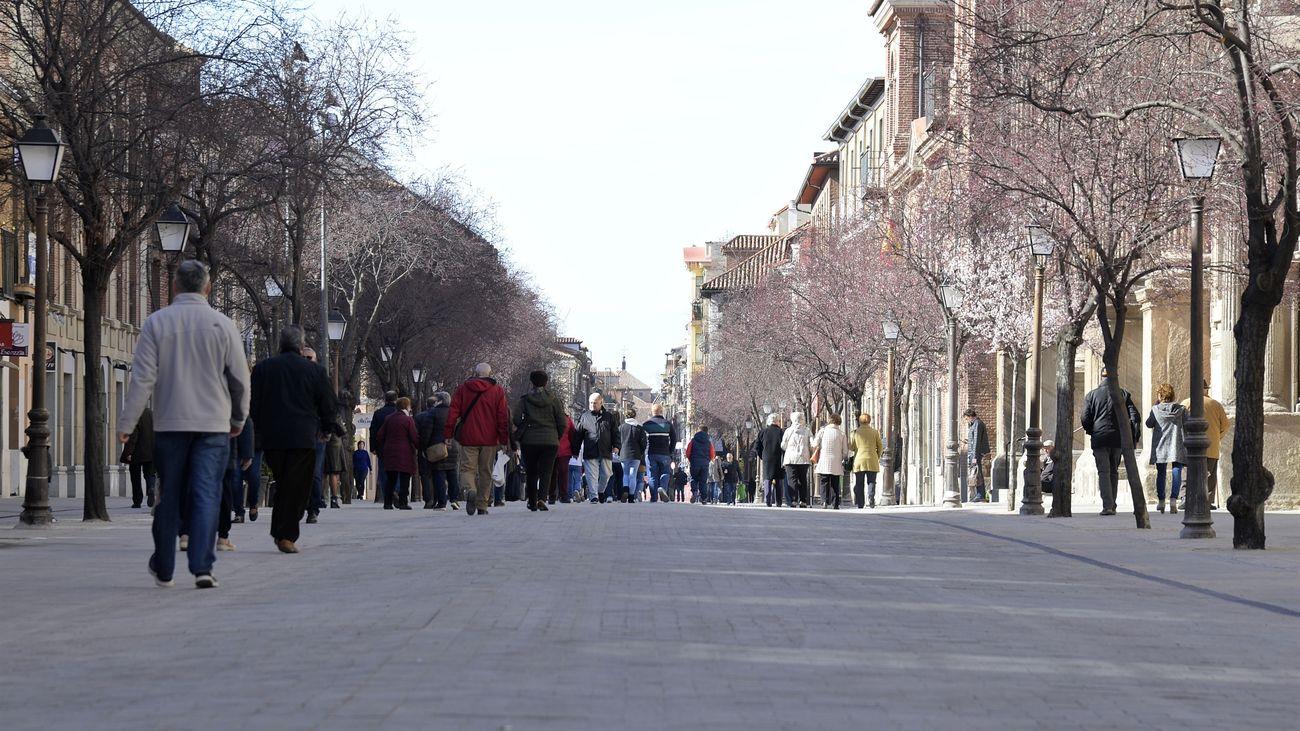 Una de las calles principales de Alcalá de Henares