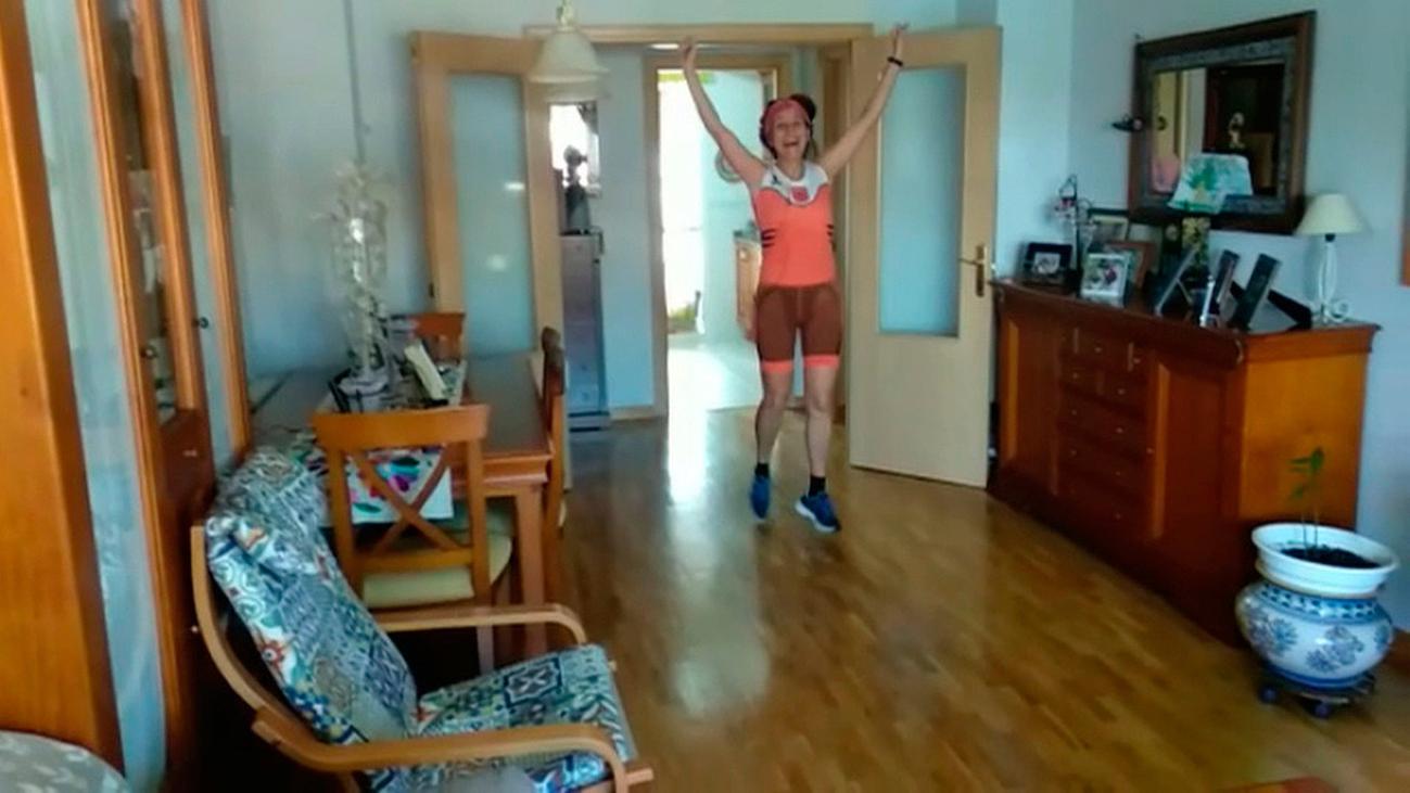Corre en Leganés un maratón en cinco horas sin salir de casa