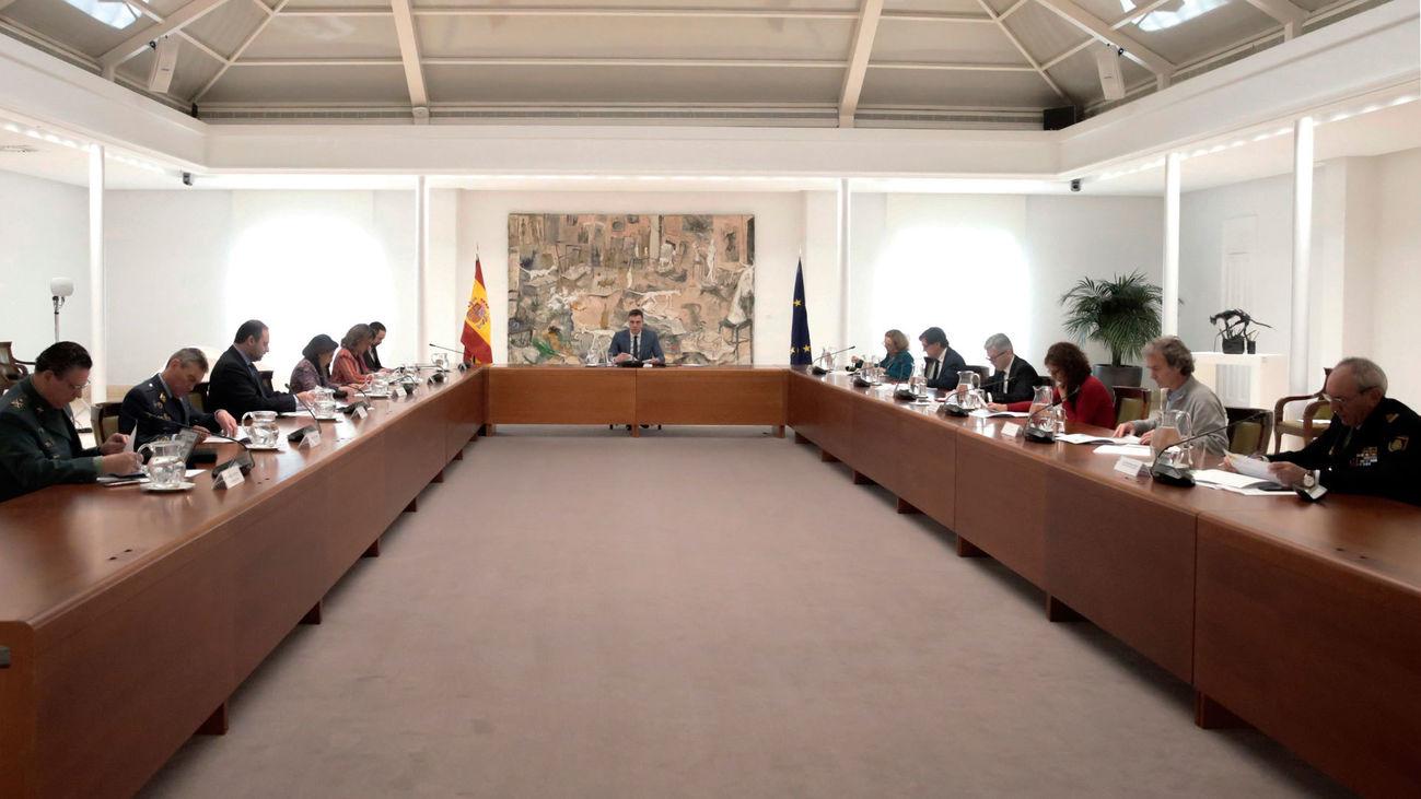 Pedro Sánchez, preside la reunión del Comité Técnico de Gestión de seguimiento de la pandemia del coronavirus