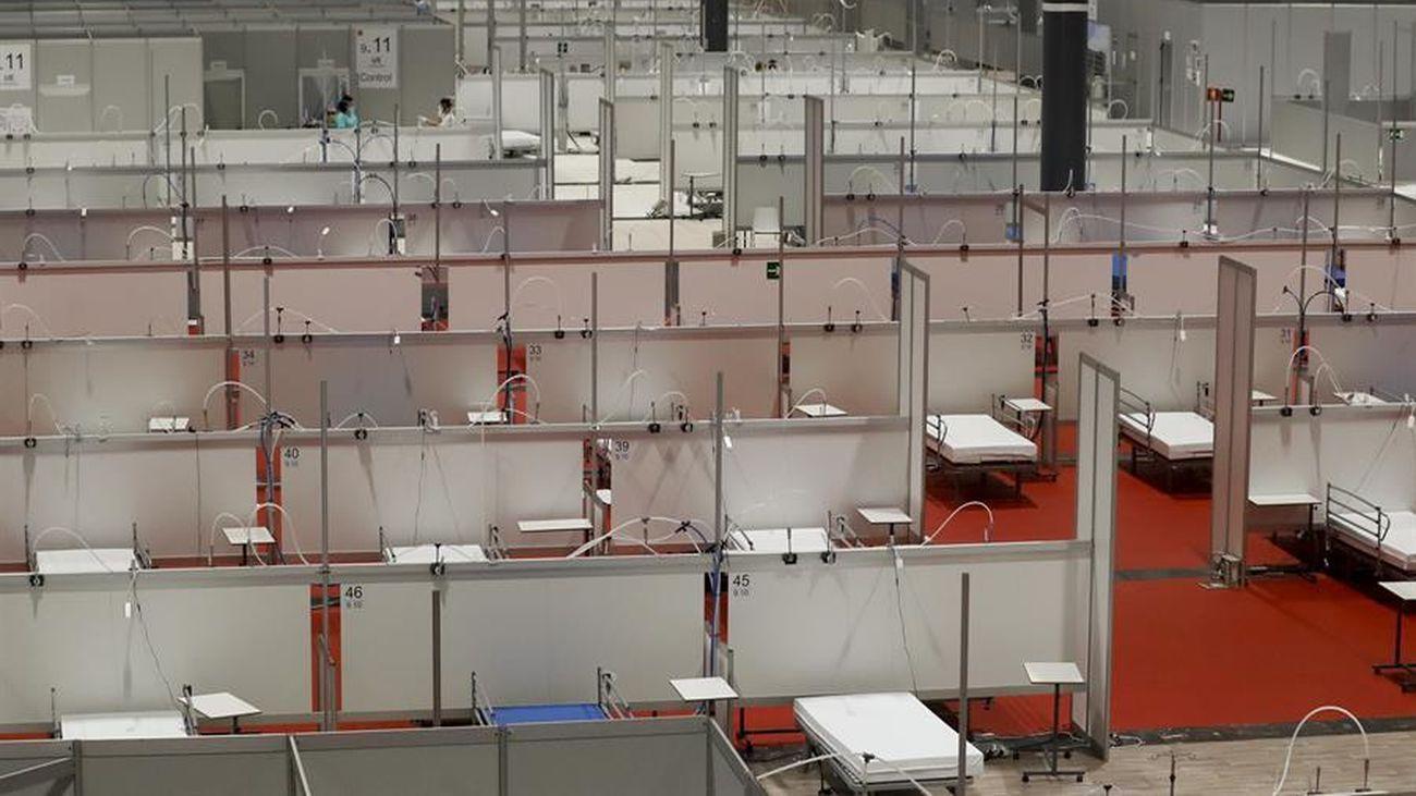 El hospital de Ifema montado por la crisis del coronavirus