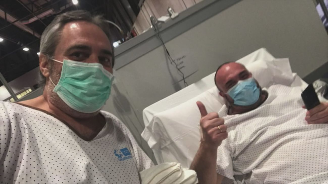 """Un cámara de Telemadrid da las gracias en un vídeo a los sanitarios de Ifema """"que se han dejado la vida"""""""