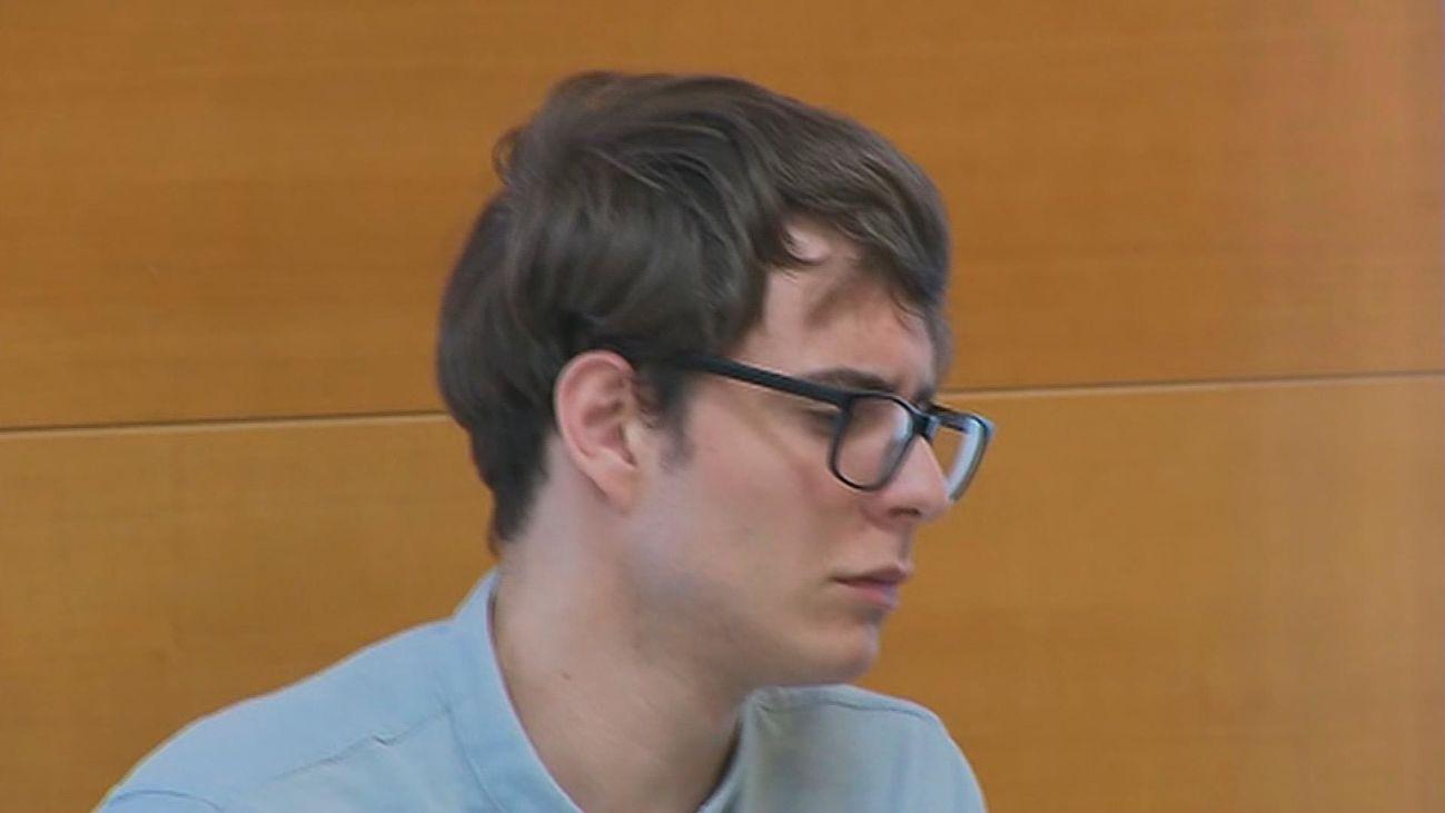 Patrick Nogueira, autor del crimen de Pioz, en un momento del juicio