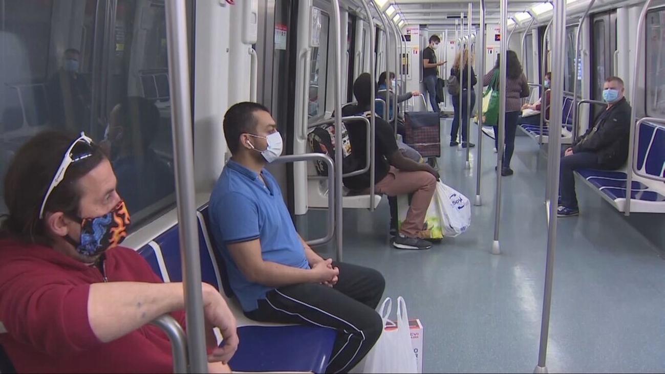Comienzan las multas en Madrid por ir sin mascarilla en transporte público