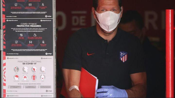 Los futbolistas del Atlético se someten a las pruebas del covid-19