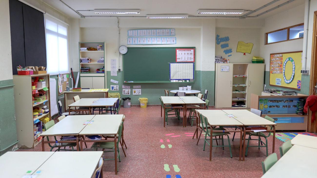 El aula de un colegio de la Comunidad de Madrid