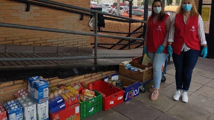Entregan 3.000 kilos de primera necesidad a Cáritas en San Agustín de Guadalix y Galapagar