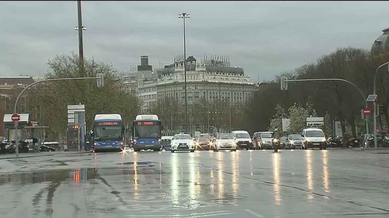 Lluvias generalizadas y tormentas en Madrid