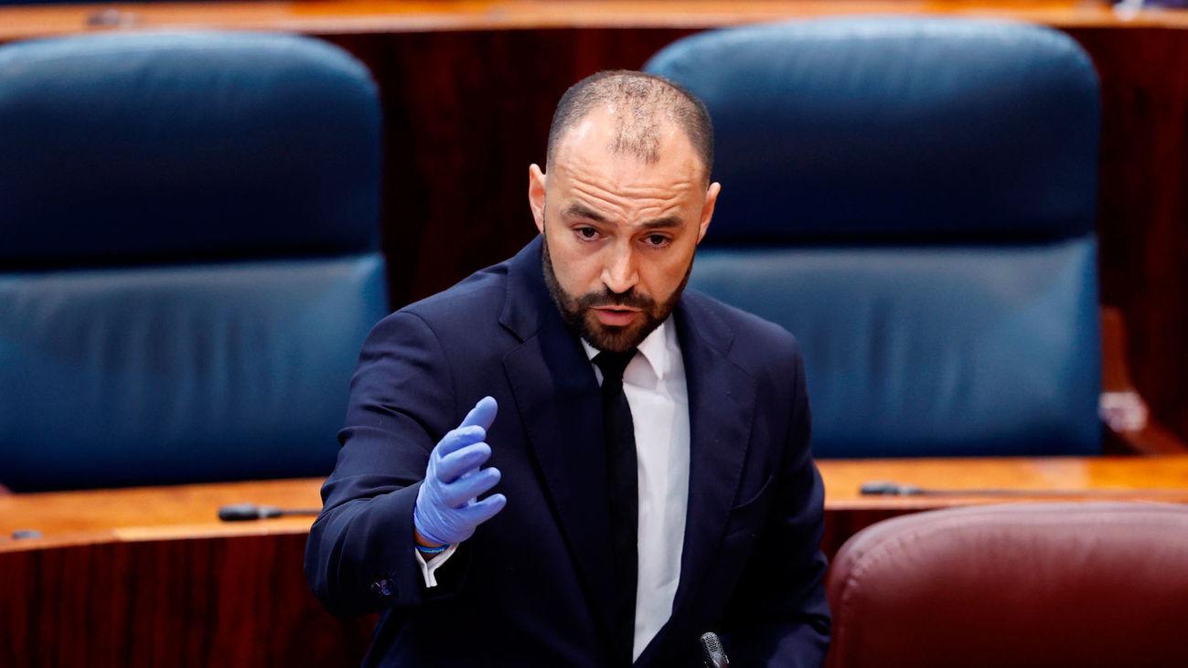 El consejero de Economía de la Comunidad de Madrid, Manuel Giménez