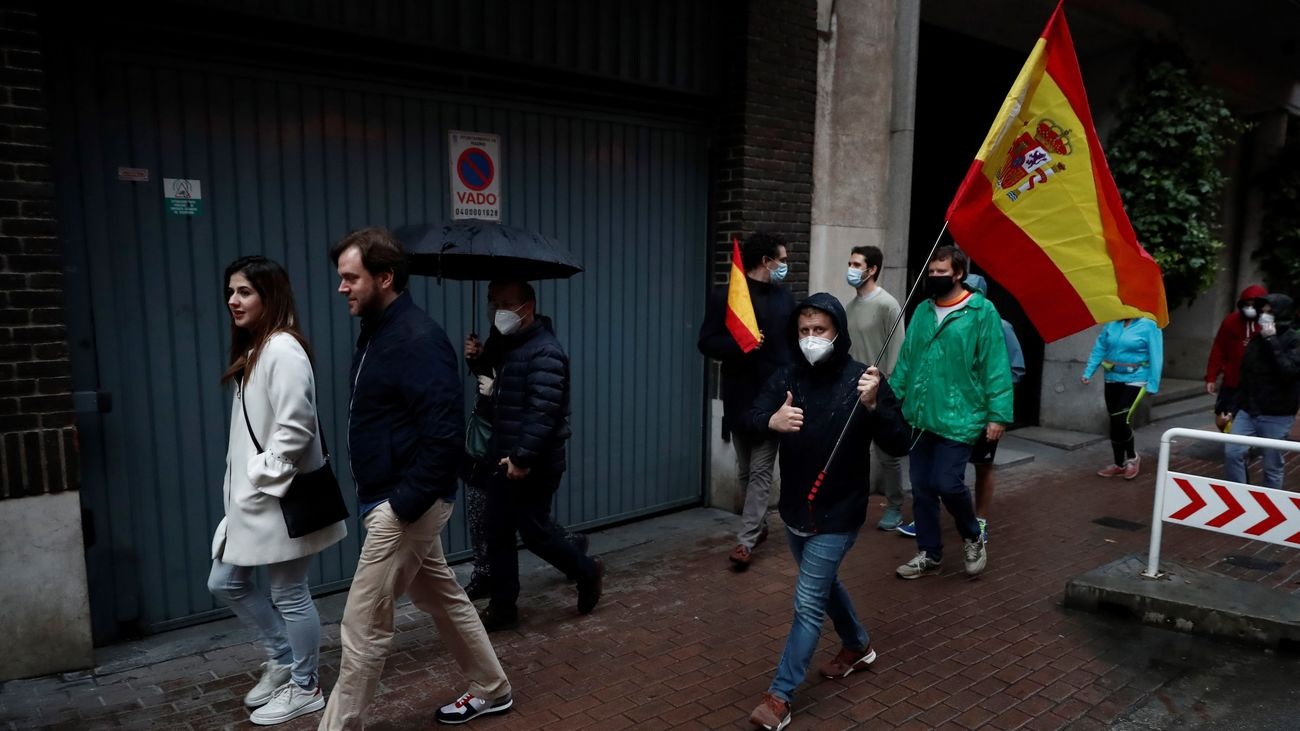 Siguen las protestas contra el Gobierno en Madrid con gran presencia policial