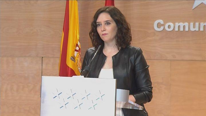 """Ayuso acusa al Gobierno de llevar a Madrid a """"la ruina"""""""